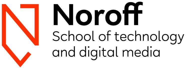 Logo til Noroff School of technology and digital media